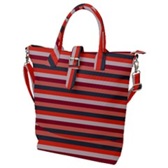 Stripey 13 Buckle Top Tote Bag