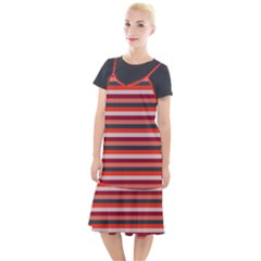 Stripey 13 Camis Fishtail Dress
