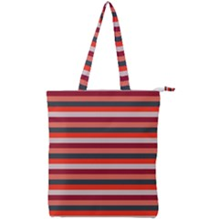 Stripey 13 Double Zip Up Tote Bag