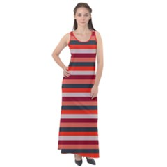 Stripey 13 Sleeveless Velour Maxi Dress