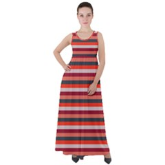 Stripey 13 Empire Waist Velour Maxi Dress