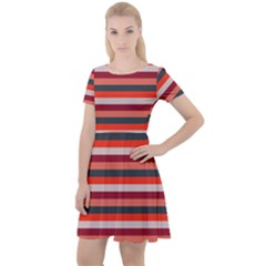 Stripey 13 Cap Sleeve Velour Dress