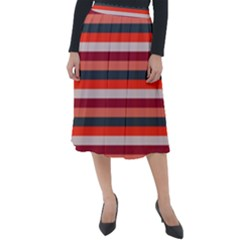 Stripey 13 Classic Velour Midi Skirt