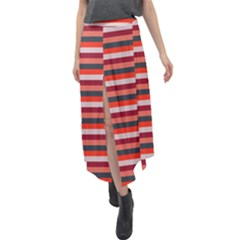 Stripey 13 Velour Split Maxi Skirt
