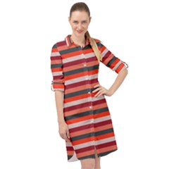Stripey 13 Long Sleeve Mini Shirt Dress