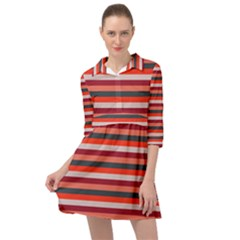 Stripey 13 Mini Skater Shirt Dress