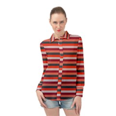 Stripey 13 Long Sleeve Chiffon Shirt