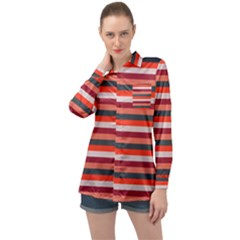 Stripey 13 Long Sleeve Satin Shirt