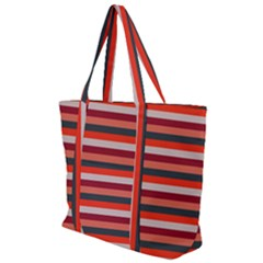 Stripey 13 Zip Up Canvas Bag