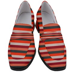 Stripey 13 Women s Chunky Heel Loafers