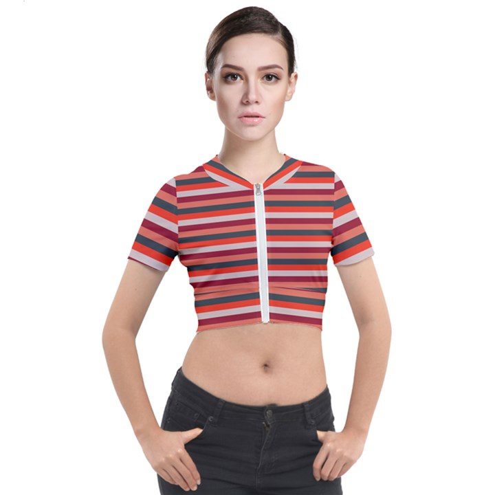Stripey 13 Short Sleeve Cropped Jacket