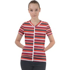 Stripey 13 Short Sleeve Zip Up Jacket