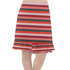 Stripey 13 Fishtail Chiffon Skirt