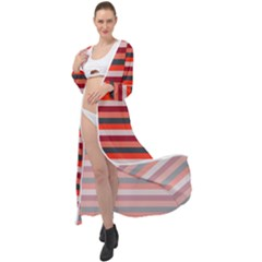 Stripey 13 Maxi Chiffon Beach Wrap