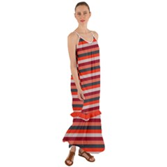 Stripey 13 Cami Maxi Ruffle Chiffon Dress