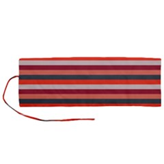 Stripey 13 Roll Up Canvas Pencil Holder (M)