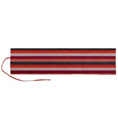 Stripey 13 Roll Up Canvas Pencil Holder (L)