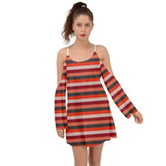Stripey 13 Kimono Sleeves Boho Dress