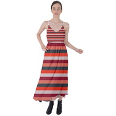Stripey 13 Tie Back Maxi Dress
