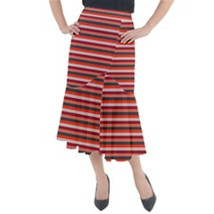 Stripey 13 Midi Mermaid Skirt