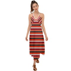 Stripey 13 Halter Tie Back Dress