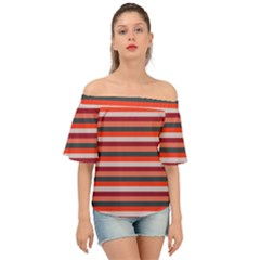 Stripey 13 Off Shoulder Short Sleeve Top