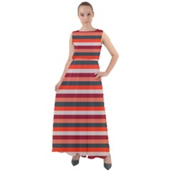 Stripey 13 Chiffon Mesh Boho Maxi Dress