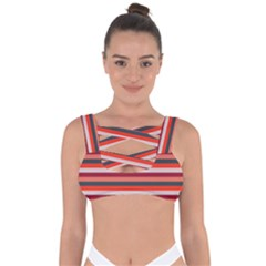 Stripey 13 Bandaged Up Bikini Top