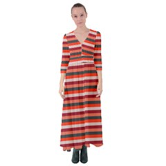 Stripey 13 Button Up Maxi Dress