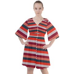 Stripey 13 Boho Button Up Dress