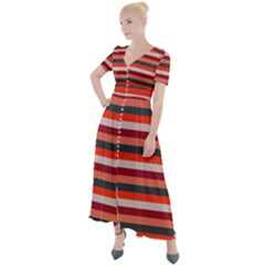 Stripey 13 Button Up Short Sleeve Maxi Dress