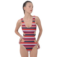 Stripey 13 Side Cut Out Swimsuit