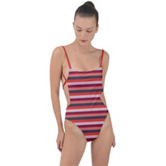 Stripey 13 Tie Strap One Piece Swimsuit