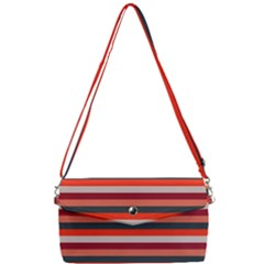 Stripey 13 Removable Strap Clutch Bag