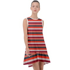 Stripey 13 Frill Swing Dress