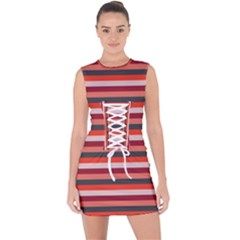 Stripey 13 Lace Up Front Bodycon Dress
