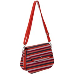 Stripey 13 Saddle Handbag