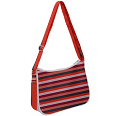 Stripey 13 Zip Up Shoulder Bag
