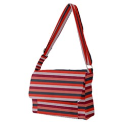 Stripey 13 Full Print Messenger Bag (M)