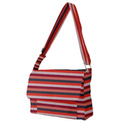 Stripey 13 Full Print Messenger Bag (L)