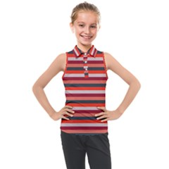 Stripey 13 Kids  Sleeveless Polo Tee