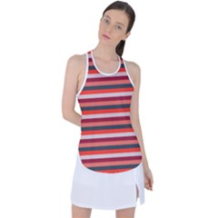 Stripey 13 Racer Back Mesh Tank Top