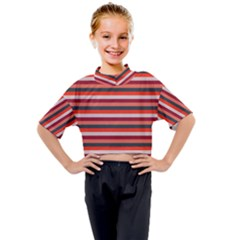Stripey 13 Kids Mock Neck Tee