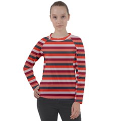 Stripey 13 Women s Long Sleeve Raglan Tee