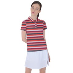 Stripey 13 Women s Polo Tee