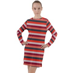 Stripey 13 Long Sleeve Hoodie Dress