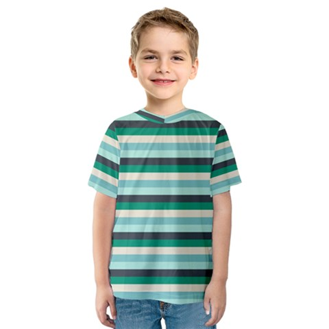 Stripey 14 Kids  Sport Mesh Tee by anthromahe