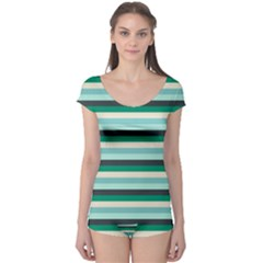 Stripey 14 Boyleg Leotard  by anthromahe