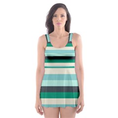 Stripey 14 Skater Dress Swimsuit by anthromahe
