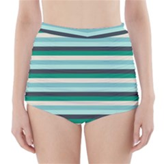 Stripey 14 High-waisted Bikini Bottoms by anthromahe